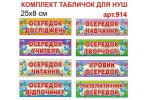 """""""Осередки НУШ"""" комплект табличек №914"""
