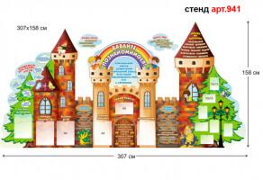 стенди для днз візитка днз у вигляді казкового палацу, у вигляді замку