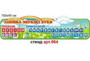 """""""Линійка звуків і букв"""" стенд №964"""