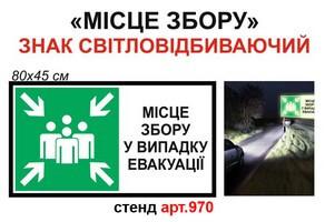 """""""Пункт збору"""" знак світловідбиваючий №970"""