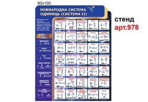 """""""Международная система единиц СИ"""" стенд №978"""