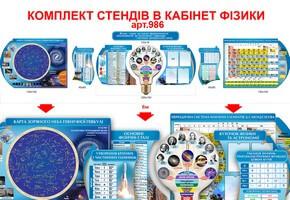 """Комплект стендов для кабинета физики """"Идея"""" №986"""