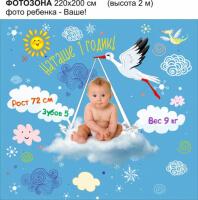Фотозона на день рождения ребенка 1 годик №F008
